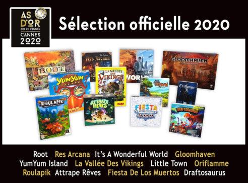 Les jeux nominés aux As d'Or 2020